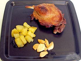 Cocinar Confit De Pato | Confit De Pato Con Ajos Y Patatas Confitados Recetas Conpan